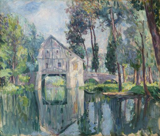 Henri Baptiste LEBASQUE - Gemälde - Le moulin (probablement vers Compiègne)