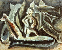 Constantino GRANDIO - Pintura - pescador de grandes peces