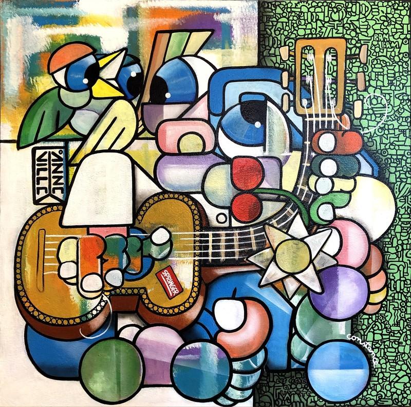 Fabrice ANNEVILLE CONSTANCE - Painting - BlaBlaBla