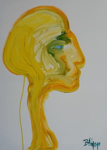 Bernard PINEAU - Painting - H231, Elle, Triple vue
