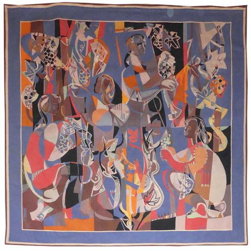 Georges DAYEZ - Tapisserie - Les vendanges