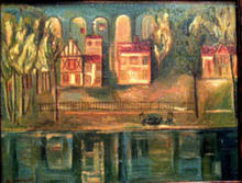 Youri Pavlovitch ANNENKOFF - Pittura - VILLAS BY THE RIVER