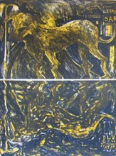 米盖尔·巴塞罗 - 版画 - Chien Sous La Pluie