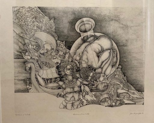 Jean KAZANDJIAN - Print-Multiple - Naissance d'une Ville