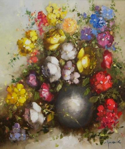 Christian JERECZEK - Pintura - Les fleurs