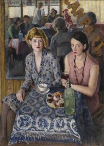 Carlo VITALE - Peinture - Coccottine al Caffè