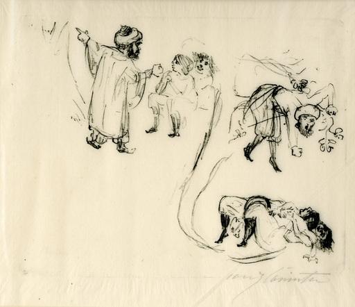 洛维斯·科林斯 - 版画 - Illustration zu 1001 Nacht