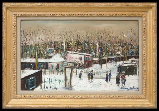 Maurice UTRILLO - Painting - Rue de la Butte Pinson sous la Neige, Montmagny (Val-d'Oise)