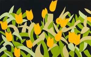 Alex KATZ, Yellow Tulips