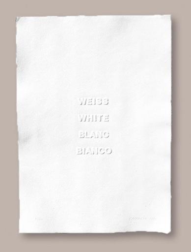Heinz GAPPMAYR - Print-Multiple - Weiss