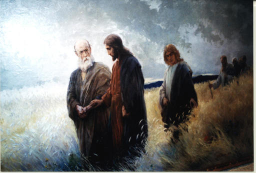 Johannes Raphael WEHLE - Gemälde - Hauptwerk,main work,,Und sie folgten ihm nach,,
