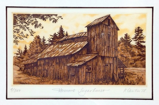 Kathleen CANTIN - Estampe-Multiple - Vermont Sugarhouse