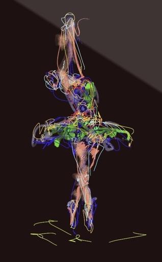 Nicole LEIDENFROST - Druckgrafik-Multiple - Dance Studies Nr 4