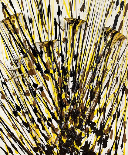 Fernandez ARMAN - Pintura - Sax tagiati et Jetè di pittura acrilica