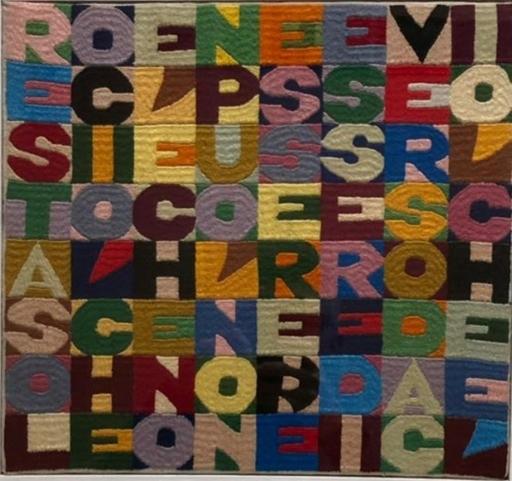 Alighiero BOETTI - Tapestry - resta solo ciò che è e che non può non essere nè essere dive