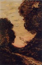 Henri Joseph HARPIGNIES - Peinture - Chemin au crèpuscule, 1905-1910