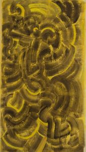 Mark TOBEY - Pittura - Brown and Yellow Composition
