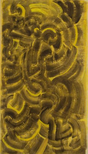 Mark TOBEY - Painting - Brown and Yellow Composition