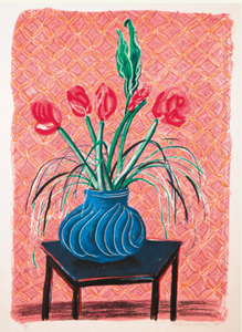 David HOCKNEY, AMARYLLIS IN A VASE