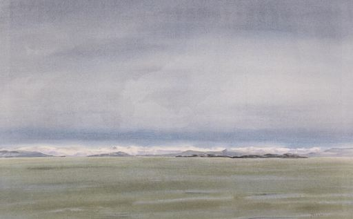 Takao TANABE - Pintura - Errington, B.C., Looking East to the Mainland
