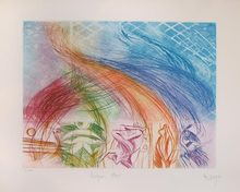 Jean MESSAGIER (1920-1999) - Untitled (Bonjour Max Ernst)