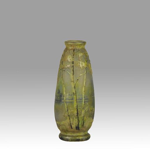 DAUM FRÈRES -  Summer Landscape Vase by Daum Freres