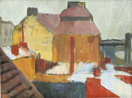 Ethelbert WHITE - Gemälde - c.1926-30 City houses in winter