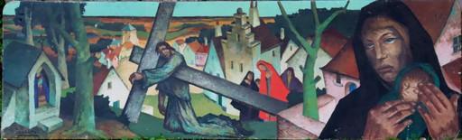 """Raymond DIERICKX - Pintura - """"CHEMIN DE CROIX EN BELGIQUE"""""""