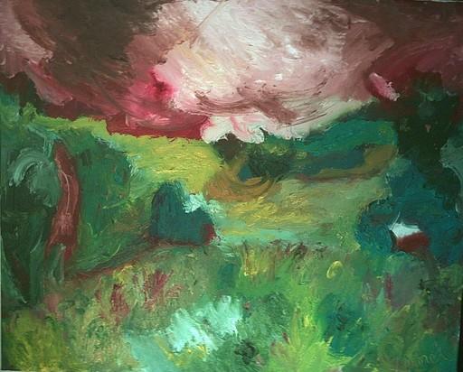 Bernard MOREL - Painting - PAYSAGE