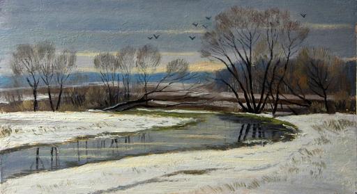 Valeriy NESTEROV - Peinture - Spring. Rooks