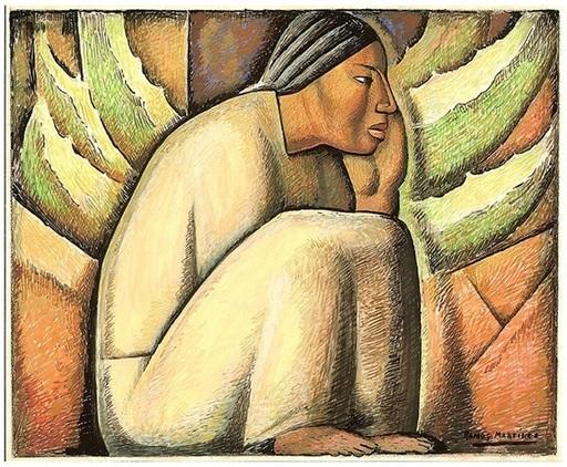 Alfredo RAMOS MARTINEZ - Peinture - Descansando