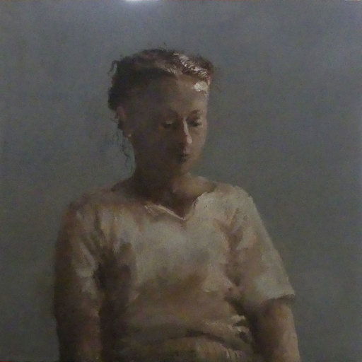Gérard BARTHÉLÉMY - Painting - Portrait d'Hélène B à la perle