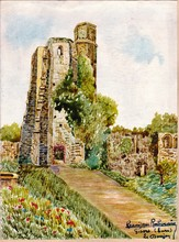 Francisque RABERAIN - Drawing-Watercolor - GISORS EURE LE DONJON