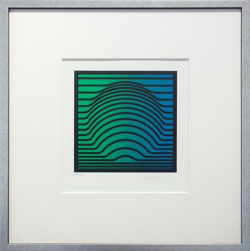 Victor VASARELY - Print-Multiple - Suomi green-blue