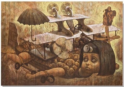 Victor HUERTA BATISTA - Pintura - Viajar no es el problema XI