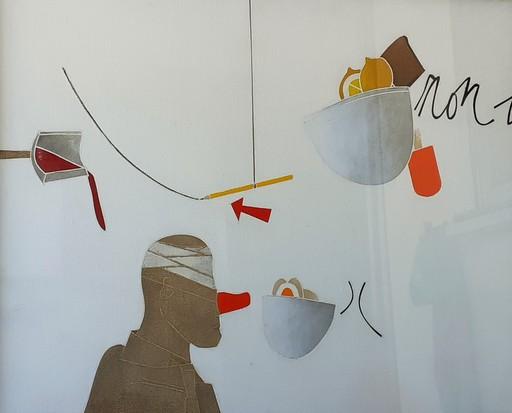 Emilio TADINI - Peinture - il naso finto
