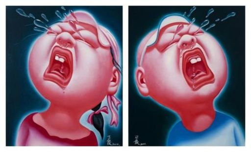YIN Jun - Painting - Crying Babies