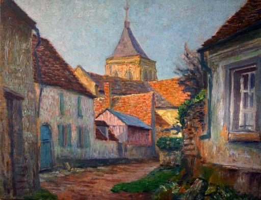 Léo GAUSSON - Painting - Vue de village