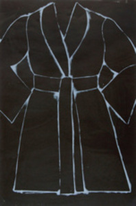 Jim DINE, BLACK AND WHITE BATHROBE
