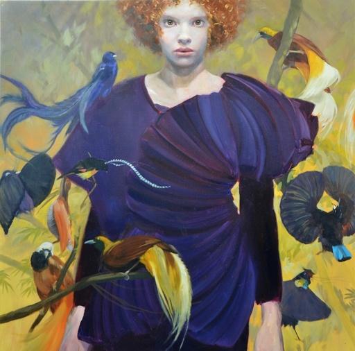 Sophie MORISSE - Painting -  Oiseaux de paradis