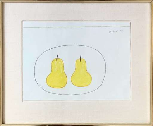 William SCOTT - Dibujo Acuarela - Two Pears