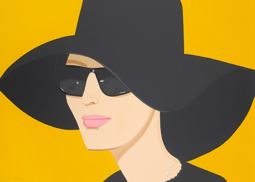 Alex KATZ - Grabado - Ulla in Black Hat