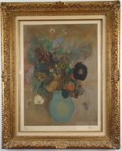 Odilon REDON - Estampe-Multiple - Vase of Flowers
