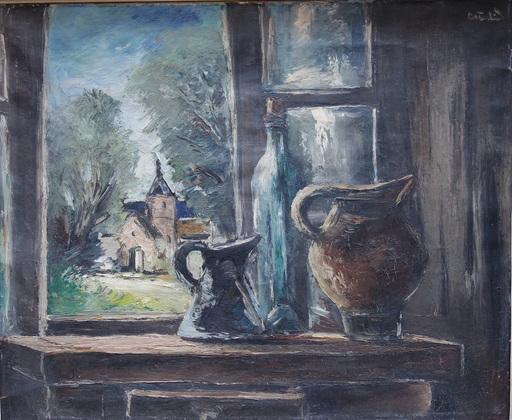 "Anders OSTERLIND - Painting - ""NATURE MORTE a la FENETRE"""