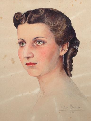 Max Léon MOREAU - Dibujo Acuarela