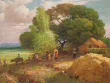 Fernando AMORSOLO (1892-1972) - Sunday Morning - Going to Church