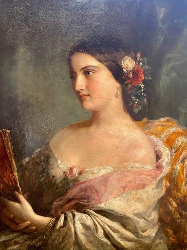 Franz Xaver WINTERHALTER - Gemälde - Eugénie de Montijo