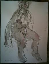 Bernard MOREL - Dibujo Acuarela - HOMME
