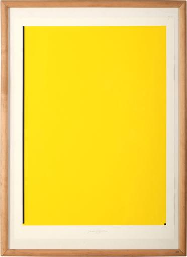 Jan KUBICEK - Grabado - Yellow Composition