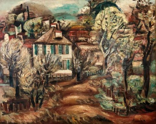 Alfred ABERDAM - Painting - Landscape in South of France